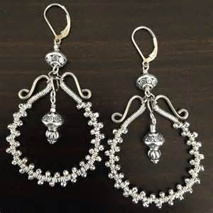 wire wrapped chandelier earrings everyday bijoux wire wrapped silver chandelier earrings