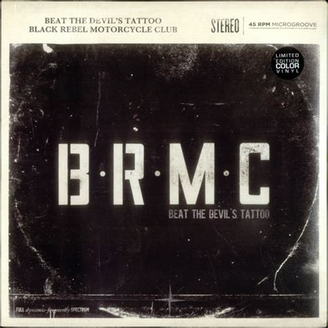black rebel motorcycle club beat the devil s tattoo