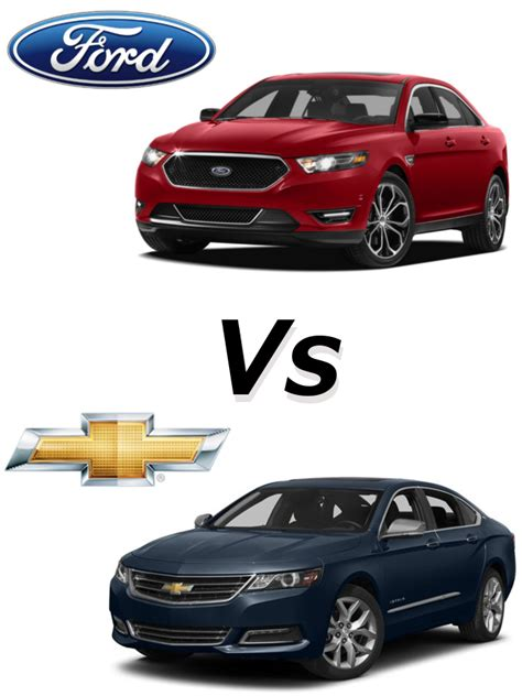 ford taurus vs chevy impala taurus v impala pat mcgrath chevyland