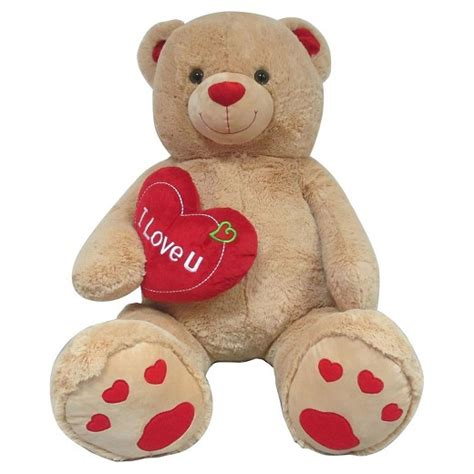 jumbo teddy bears jumbo valentines teddy with quot i you quot target