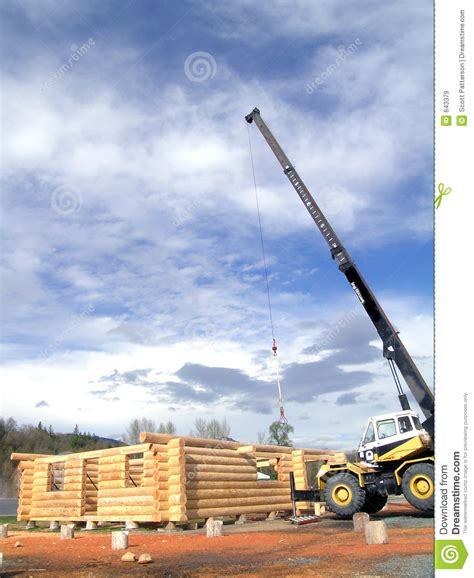 Cabin Crane by Log Cabin Crane Royalty Free Stock Images Image 643379