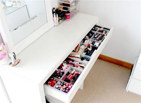 Cheap Muji Drawers by Malm Dressing Table Makeup And Storage Ideas