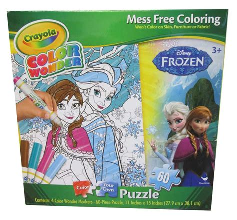 frozen coloring pages crayola crayola color puzzle disney frozen children s