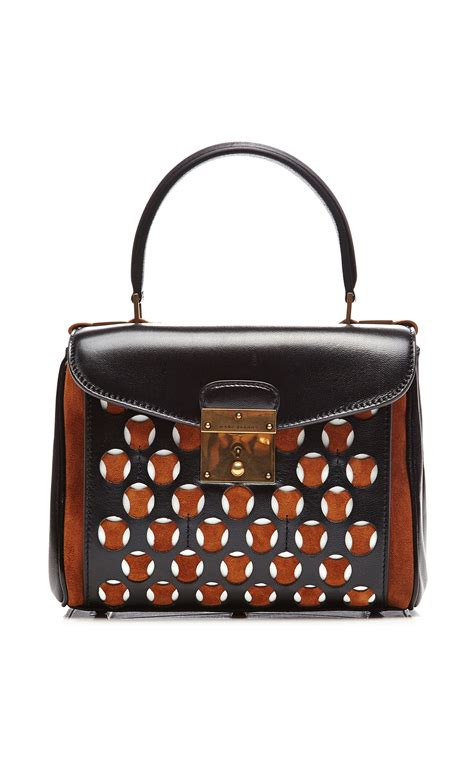 Marc Purse Deal Marc Perforated Leather Flap Purse by Marc Mini Metropolitan Leather And Suede Perforated