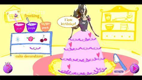 Barbie Cake Decoration Games   Barbie Cooking Games