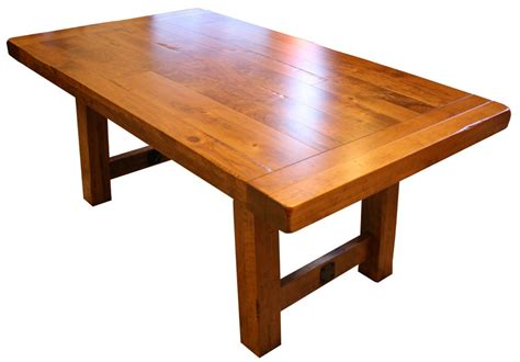 Rustic Country Kitchen Cabinets settler s trestle table ohio hardwood furniture