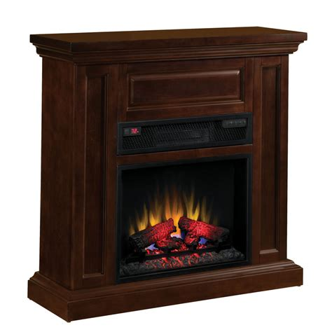 lowes electric fireplace shop chimney free 40 in w espresso wood electric fireplace