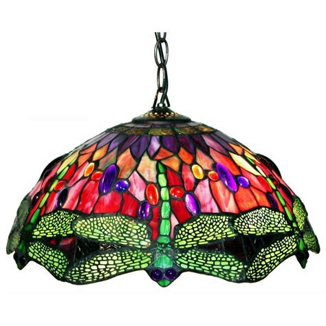 tiffany stained glass hanging light warehouse of tiffany dragonfly 2 light brown stained glass