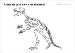 printable dinosaur skeleton template assemble a t rex dinosaur skeleton sb4272 sparklebox