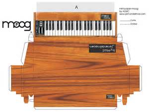 Piano Papercraft - can t afford a real moog steelberry clones electronic