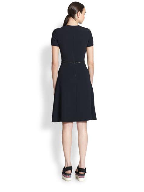 stella mccartney knit dress lyst stella mccartney flared knit dress in blue