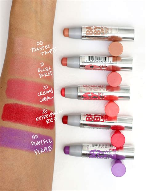 Maybelline Baby Color Lip Balm maybelline 2017 baby color balm crayons