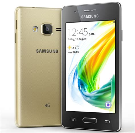 Samsung Z2 samsung z2 tizen powered smartphone with 4g volte launched in india for rs 4590