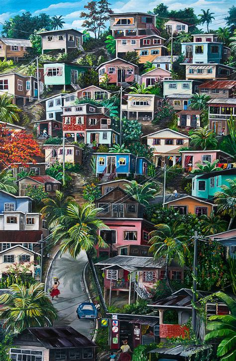Seaside House Plans the hill trinidad painting by karin dawn kelshall best