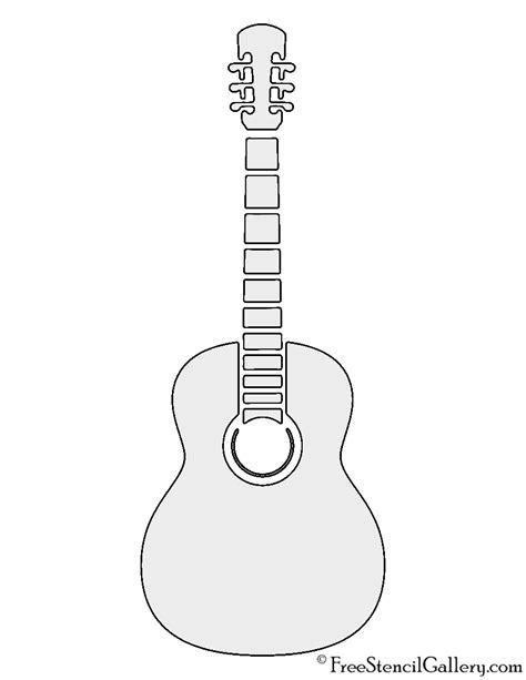 guitar template printable guitar stencil free stencil gallery