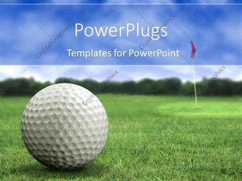 Powerpoint Template Golf Ball On The Golf Playground On Golf Powerpoint Template