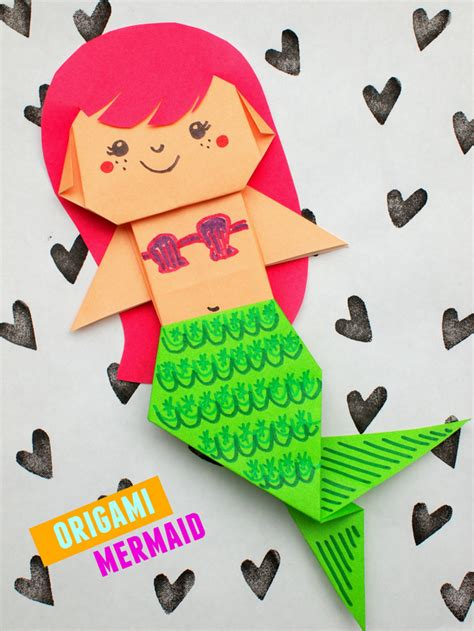 How To Make An Origami Mermaid - uber origami mermaid pink stripey socks