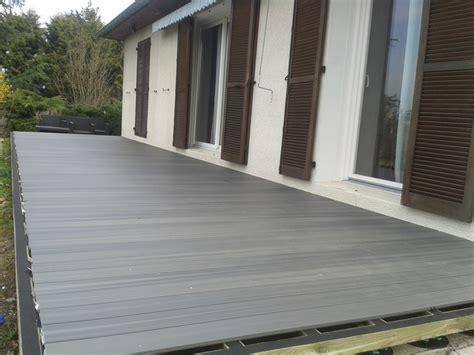 terrasse xtrem chantier terrasse en bois composite terranova xtrem gris