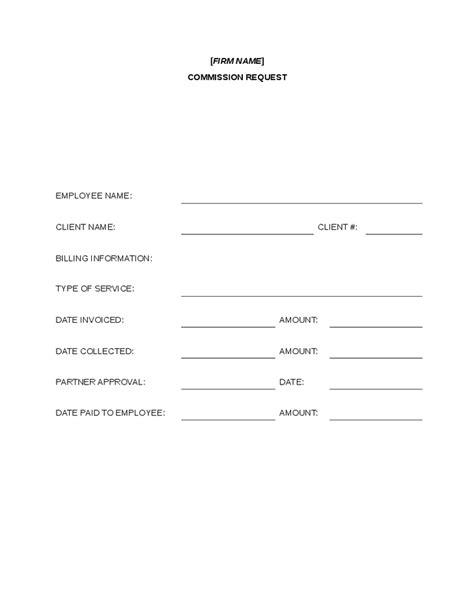 commission form template commission request form hashdoc