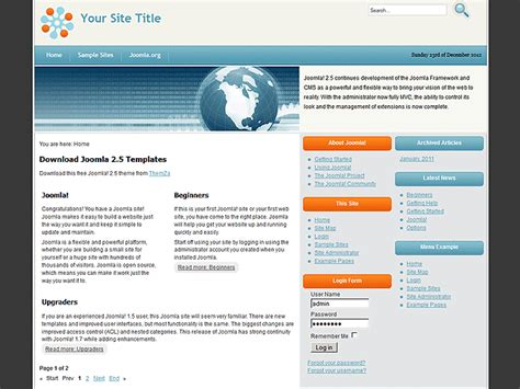 template joomla software rise of technology free joomla 2 5 template