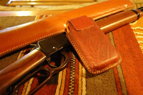 Handmade Leather Cell Phone Holsters - made leather cell phone holsters by underwood
