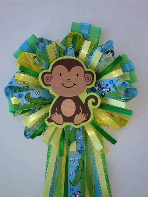 Corsage Baby Shower Safari by Baby Shower Monkey Jungle Safari Corsage