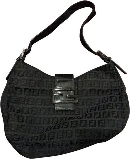 fendi monogram black hobo bag tradesy