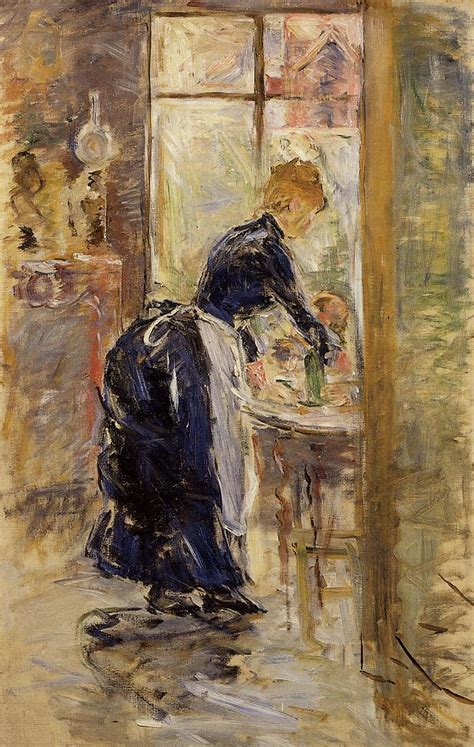 Berthe Morisot In The Dining Room by The Little Maid Servant Berthe Morisot Wikiart Org