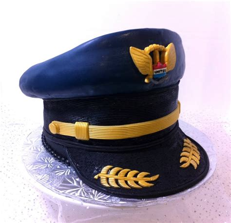 How To Make A Captain Hat Out Of Paper - captain airplane pilot hat type theme cake because i