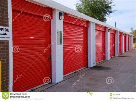 Garage Door Unit Row Of Storage Garage Units With Doors Stock Images