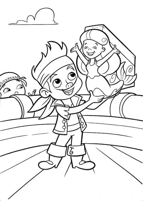 jake and the neverland pirates coloring pages online