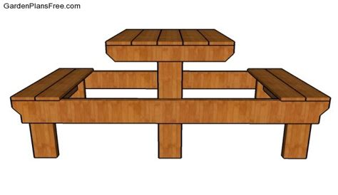 small picnic table plans  garden plans