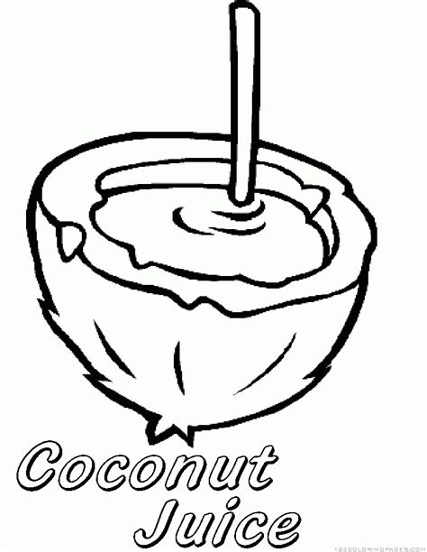 coloring coconut coconut coloring page coloring home