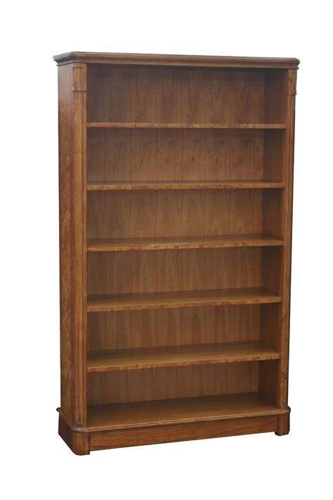 Wide Bookshelf And Wide Bookcase In Burr Walnut