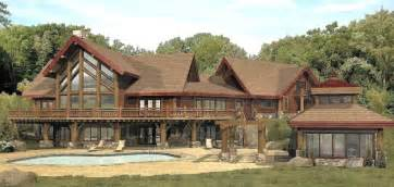 Large Cabin Plans Big Log Cabins Large Log Cabin Home Floor Plans Log