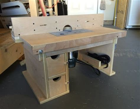 router bench plans bench top router table by supercubber lumberjocks com