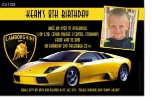 Lamborghini Birthday Gift Cu1123 Yellow Lamborghini Birthday Invitation Mens