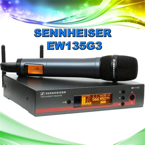 Mikropon Mic Sennheiser Ew 135 G3 Single Profesional Artis 3vvnc sennheiser ew135 g3 wireless mic ew135g3 516 558mhz