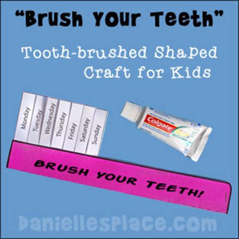 How To Make A Toothbrush Out Of Paper - my wonderful crafts and learning activities