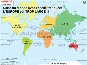 carte du monde 224 l 233 chelle my