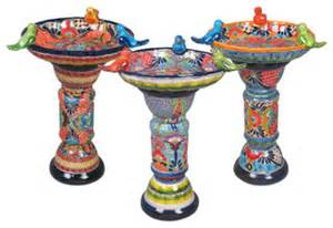 colorful bird baths talavera ceramic birdbaths eclectic bird baths