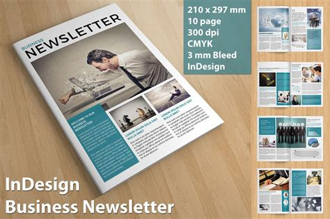 business newsletter brochure templates creative market