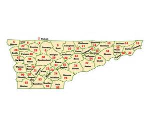 Tennessee Zip Code Map by Wims County Id Maps