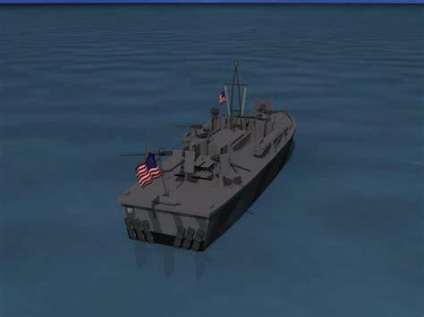 pt boat elco elco pt boat pt 209 3d model rigged max obj 3ds lwo lw lws