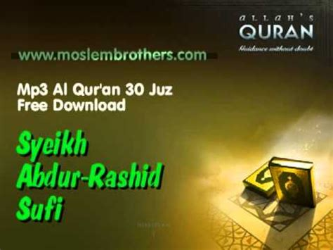 download mp3 al qur an per halaman mp3 quran 30 juz abdur rashid sufi youtube