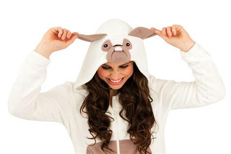 womens pug onesie womens hooded ears onesies pug cat onesie pyjamas size uk 6 16 ebay
