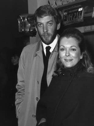 Then: Donald Sutherland with Former Wife Shirley Douglas