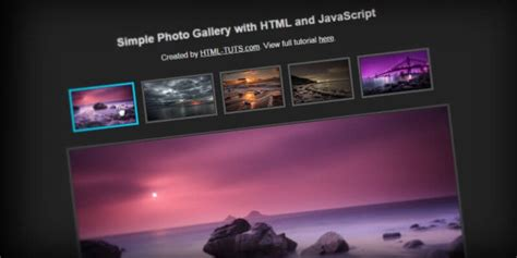 creating css gallery create simple html photo gallery with javascript html