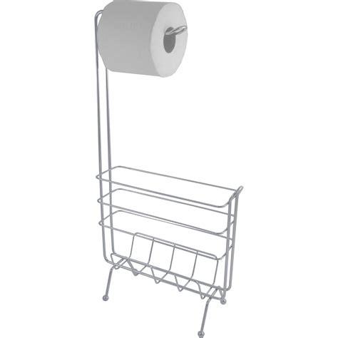 exquisite slim profile toilet paper holder with magazine