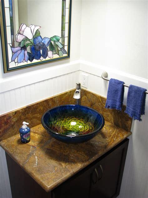 bathroom glass bowl sink true planet glass sink bowl tropical bathroom cedar